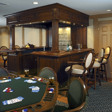 An Amazing Bar With Poker Table