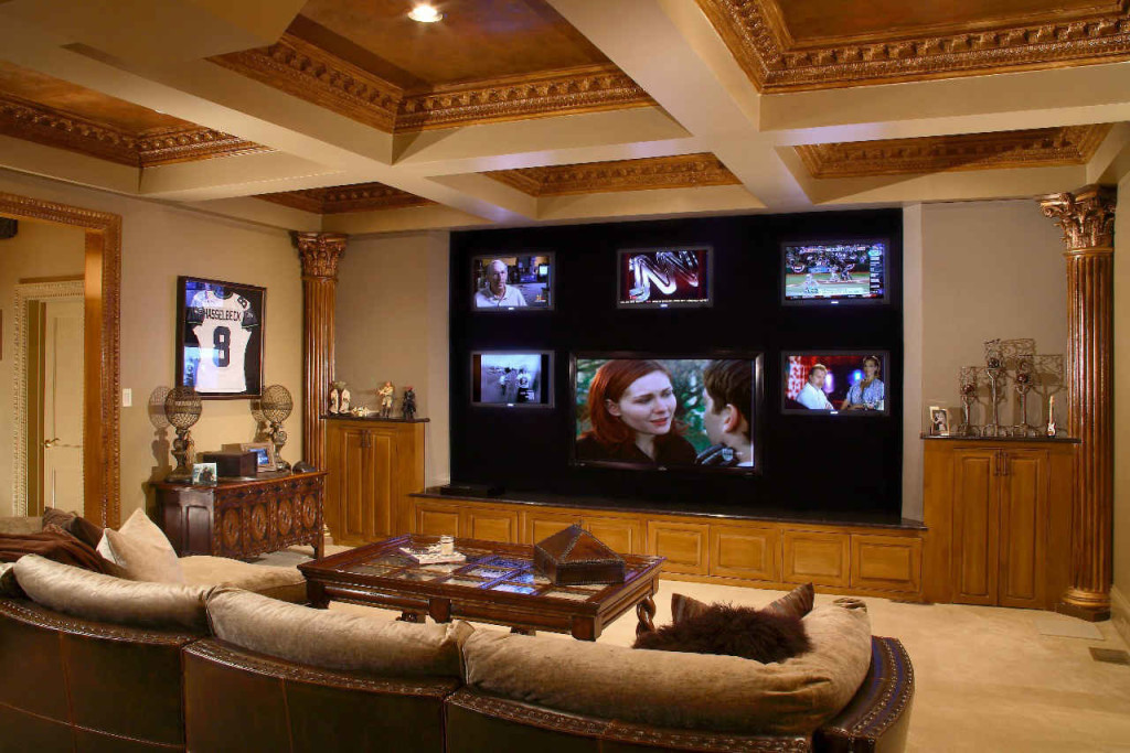 Basement Theater Custom Design