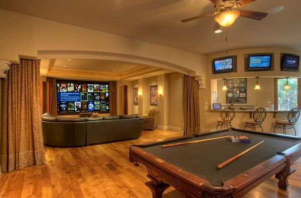 Basement Bar With Pool Table Makes This An Idea Design