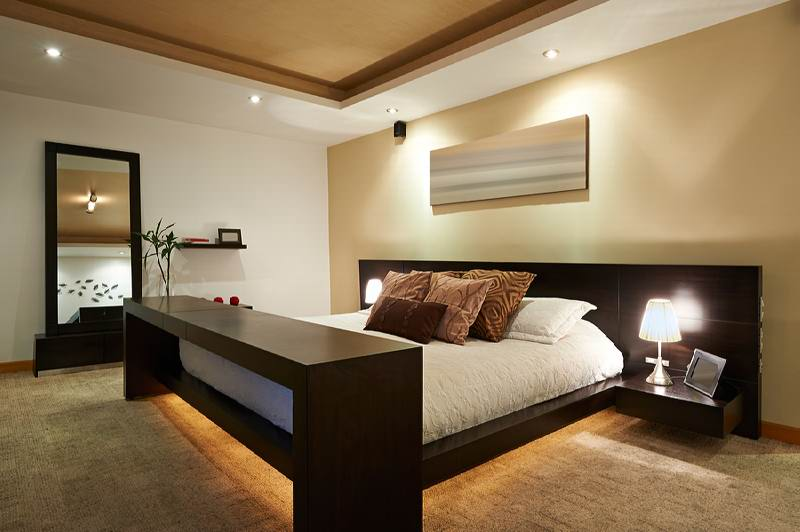 Contemporary Basement Bedroom