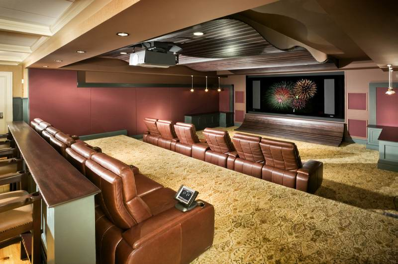 Basement Home Theater Design Idea