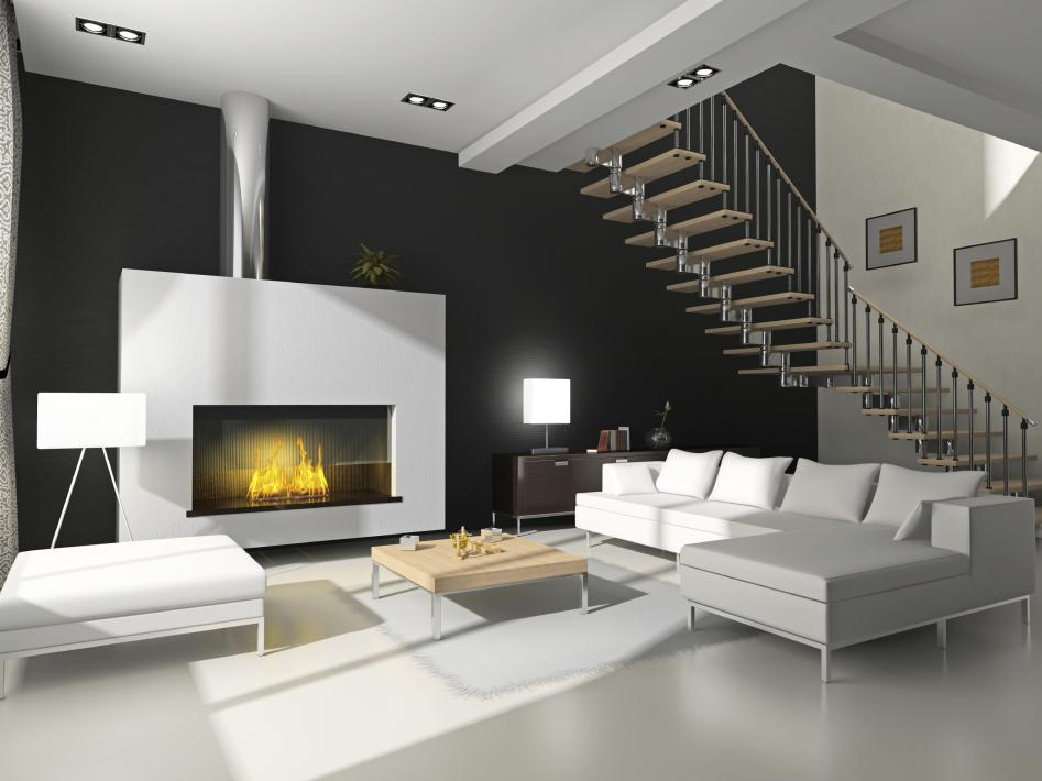 Basement Flooring Painted With An Exquisite  White Paint