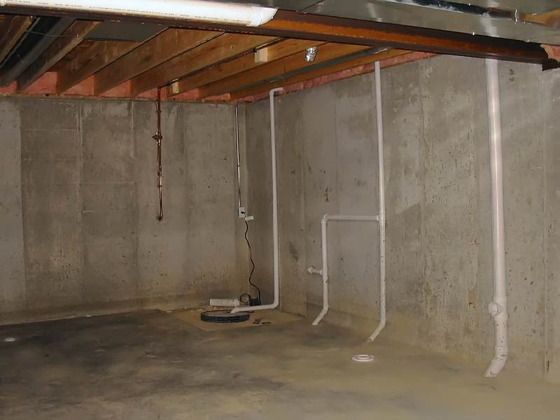 Basement Being Pre-Treated For Moisture