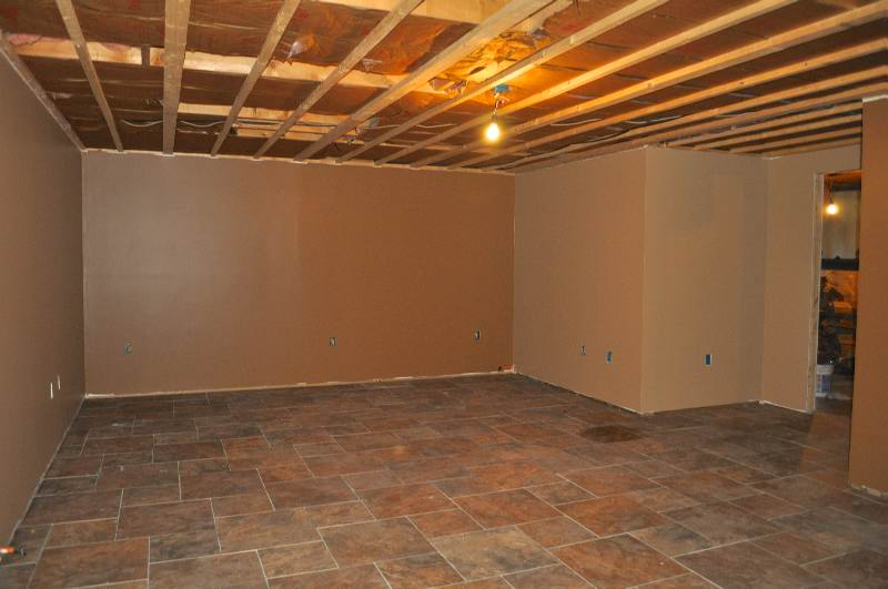 Basement Walls Partially Finished